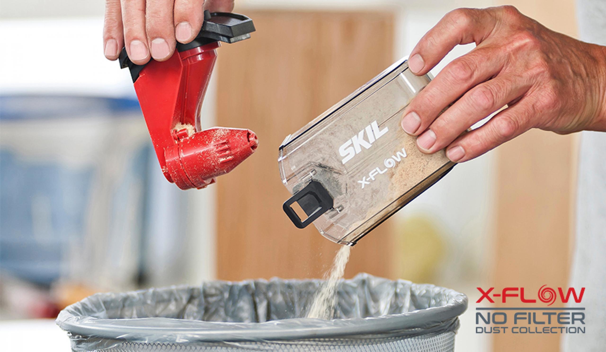 X-Flow obezbeđuje snažno usisavanje prašine bez zaprečenja